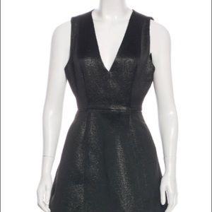 Alice + Olivia black metallic dress XS